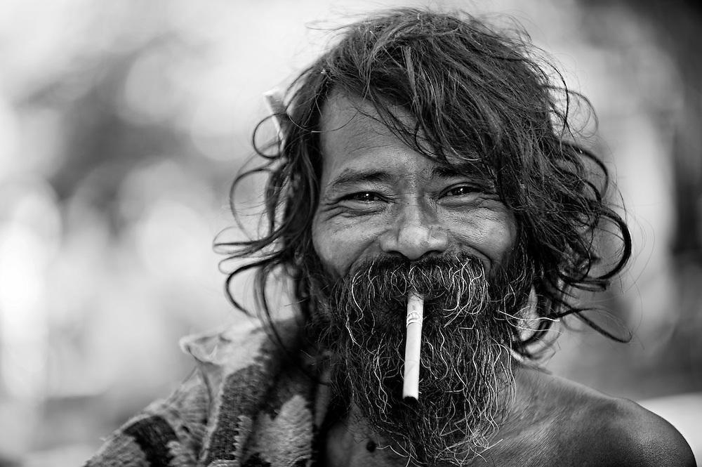 A man near Mandalay, Myanmar.