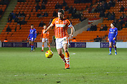 Blackpool Midfielder David Norris during the Sky Bet League 1 match between Blackpool and Oldham Athletic at Bloomfield Road, Blackpool, England on 16 February 2016. Photo by Pete Burns.