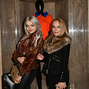Gabriella Melrose (L) attend Indonesian Fashion Showcase - Jera at Fashion Scout London Fashion Week AW19 on 16 Feb 2019, at Freemasons' Hall, London, UK.