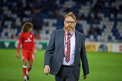 TBILSI, GEORGIA - Friday, October 6, 2017: Wales' head of international affairs Mark Evans during the 2018 FIFA World Cup Qualifying Group D match between Georgia and Wales at the Boris Paichadze Dinamo Arena. (Pic by David Rawcliffe/Propaganda)