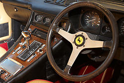 © Licensed to London News Pictures.  03/03/2012. OXFORD, UK. A 1978 Ferrari 400 GT Coupe, one of only 164 built, forms part of a classic car auction sale being held at Bonhams Oxford today. The car is estimated to sell for £15,000-20,000. Photo credit :  Cliff Hide/LNP