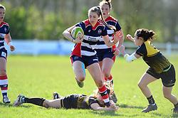 Cat McNaney of Bristol Ladies - Mandatory by-line: Dougie Allward/JMP - 26/03/2017 - RUGBY - Cleve RFC - Bristol, England - Bristol Ladies v Wasps Ladies - RFU Women's Premiership