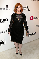 February 24, 2019 - West Hollywood, CA, USA - LOS ANGELES - FEB 24:  Christina Hendricks at the Elton John Oscar Viewing Party on the West Hollywood Park on February 24, 2019 in West Hollywood, CA (Credit Image: © Kay Blake/ZUMA Wire)