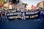 "Roma 18 Giugno 2015<br /> I movimenti per il diritto all'abitare manifestano per chiedere il diritto alla casa e le dimissioni del sindaco di Roma  Ignazio Marino e la sua amministrazione dopo lo scandalo di ""Mafia Capitale"" <br /> Rome 18th June 2015<br /> The movements for the right to housing protested to demand the right to housing and the resignation of the mayor of Rome Ignazio Marino and his administration after the scandal of ""Mafia capital"", that has laid bare a system of corruption in the Italian capital."