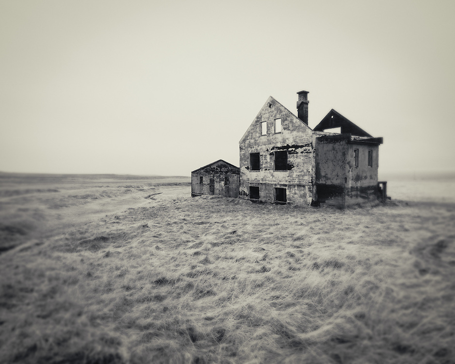 Abandoned house near Hellnar, ,Iceland