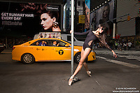Times Square Ballet Dance As Art photo shoot featuring Sabrina Imamura