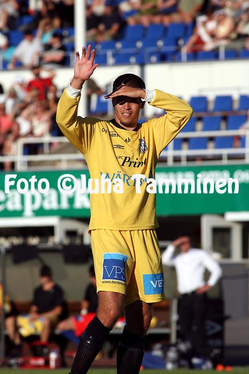 18.07.2009, Tehtaankentt?, Valkeakoski, Finland..Veikkausliiga 2009 - Finnish League 2009.FC Haka Valkeakoski - Vaasan Palloseura.Pekka Kainu - VPS.©Juha Tamminen...