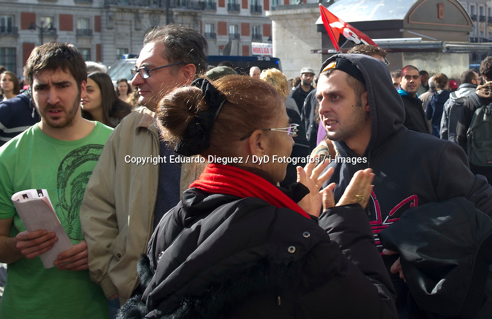 April 25, 2013. File Photo - National Strike, Madrid. Spain, November 14, 2012. Photo by Eduardo Dieguez / DyD Fotografos / i-Images.<br /> <br /> SPAIN OUT