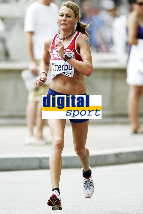 Friidrett, 31. juli  2010 ,<br /> EM Barcelona<br /> <br /> European Athletics Championships<br /> Barcelona<br /> <br /> <br /> maraton , Kirsten Otterbu  , Norge<br /> <br /> Foto: Anders Hoven , Digitalsport