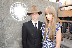 JOHNNY BORRELL and EDIE CAMPBELL at the Montblanc de la Culture Arts Patonage Award 2010 held at Floors 7-10, Multi-Storey Car Park, 95A Rye Lane, London SE15 on 30th June 2010.  The 2010 UK winners were Yana Peel & Candida Gertler.