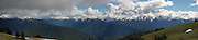 "Hurricane Ridge, Olympic National Park WA. (stitched panorama, 12""x58"" @360 dpi)"