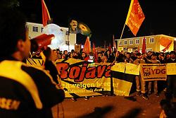 05.06.2015, Garmisch Partenkirchen, GER, G7 Gipfeltreffen auf Schloss Elmau, im Bild Abends gegen 22 Uhr starten kurdische Teilnehmer des Protestcamps in Elmau eine Spontandemonstration // during Protest of the G7 opponents prior to the scheduled G7 summit which will be held from 7th to 8th June 2015 in Schloss Elmau near Garmisch Partenkirchen, Germany on 2015/06/05. EXPA Pictures © 2015, PhotoCredit: EXPA/ Eibner-Pressefoto/ Gehrling<br /> <br /> *****ATTENTION - OUT of GER*****