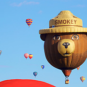 The venerable Smokey the Bear makes his appearance to remind people to be safe!
