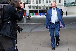 © Licensed to London News Pictures. 14/07/2019. London, UK. Liberal Democrat leadership contender Sir Ed Davey leaves the BBC. He leaves after appearing on the Andrew Marr Show. Photo credit: George Cracknell Wright/LNP