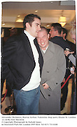 Alexander McQueen, Murray Arthur. Valentino shop party.Sloane St. London. 21/10/96. Film 96634f36<br />© Copyright Photograph by Dafydd Jones<br />66 Stockwell Park Rd. London SW9 0DA<br />Tel 0171 733 0108