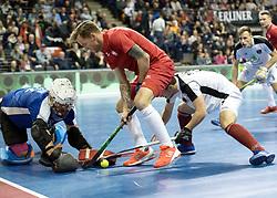 BERLIN - Indoor Hockey World Cup<br /> Quarterfinal 2: Austria - Poland<br /> foto: Artur Mikula <br /> WORLDSPORTPICS COPYRIGHT FRANK UIJLENBROEK