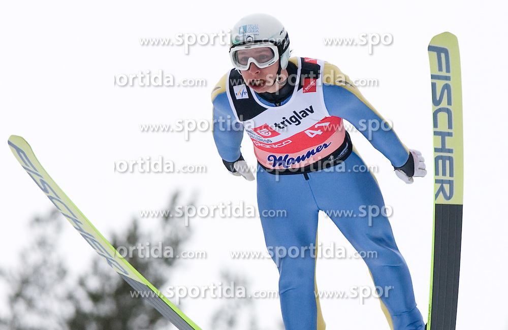 Sebastian Colloredo of Italy competes during Flying Hill Individual Qualifications at 1st day of FIS Ski Flying World Championships Planica 2010, on March 18, 2010, Planica, Slovenia.  (Photo by Vid Ponikvar / Sportida)