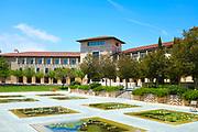 Ikeda Library Courtyard with Reflecting Pools at Soka University