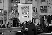 MAN WITH DAILY MAIL FRONT PAGE, Outside the Supreme court of the United Kingdom, Parliament Sq. London. 5 December 2016.<br /> Beginning of four days of hearings on Brexit - and who has the power to trigger it. 11 justices listen to arguments on whether government or Parliament has that power.