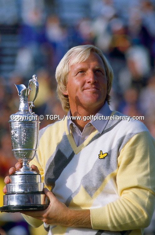 Greg NORMAN (AUS) holds the famous claret jug trophy having won his first major  with a final round 69 for a 280 total score during fourth round The Open Championship, Turnberry Ailsa Course,Turnberry,Ayrshire,Scotland.