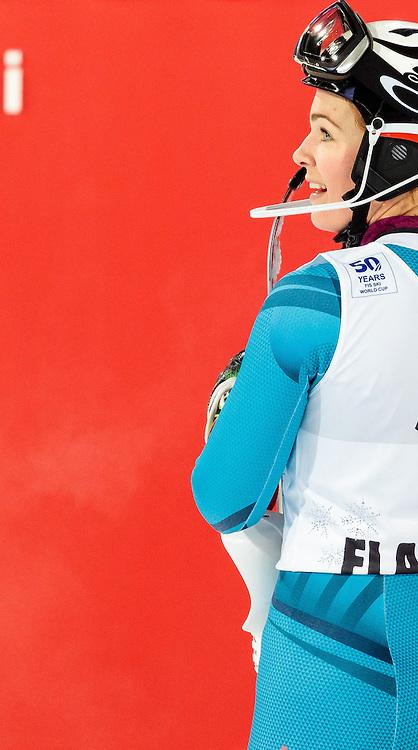 10.01.2017, Hermann Maier Weltcupstrecke, Flachau, AUT, FIS Weltcup Ski Alpin, Flachau, Slalom, Damen, 2. Lauf, im Bild Nina Loeseth (NOR) // Nina Loeseth of Norway reacts after her 2nd run of ladie's Slalom of FIS ski alpine world cup at the Hermann Maier Weltcupstrecke in Flachau, Austria on 2017/01/10. EXPA Pictures © 2017, PhotoCredit: EXPA/ Johann Groder