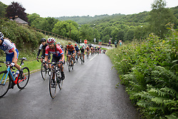 Anouska Koster (NED) of WM3 Pro Cycling Team climbs one of the many climbs of Stage 4 of the OVO Energy Women's Tour - a 123 km road race, starting and finishing in Chesterfield on June 10, 2017, in Derbyshire, United Kingdom. (Photo by Balint Hamvas/Velofocus.com)