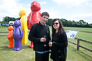 CHRISTIAN PLATZER; REBECCA SHANNON, The Dalwhinnie Crook  charity Polo match  at Longdole  Polo Club, Birdlip  hosted by the Halcyon Gallery. . 12 June 2010. -DO NOT ARCHIVE-© Copyright Photograph by Dafydd Jones. 248 Clapham Rd. London SW9 0PZ. Tel 0207 820 0771. www.dafjones.com.