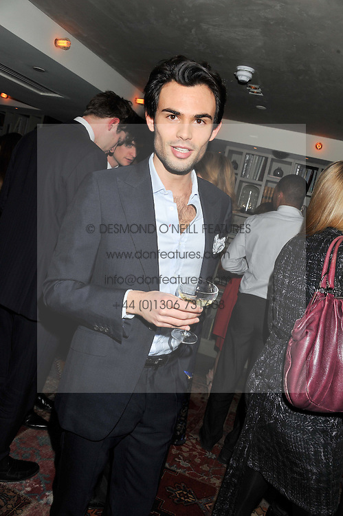 MARK-FRANCIS VANDELLI at the Beulah AW13 Showcase, Bungalow 8 LFW Pop-Up at Belgraves - A Thompson Hotel, 20 Chesham Place, London SW1 on 13th February 2013.