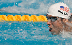 Michael Phelps of USA competes during the Men's 100m Butterfly Heats during the 13th FINA World Championships Roma 2009, on July 31, 2009, at the Stadio del Nuoto,  in Foro Italico, Rome, Italy. (Photo by Vid Ponikvar / Sportida)