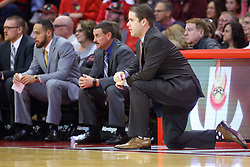 22 November 2017:  Von Washington, Marty Bell and Ryan Hellenthal during a College mens basketball game between the Quincy Hawks and Illinois State Redbirds in  Redbird Arena, Normal IL