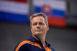 27-05-2017 NED: 2018 FIVB Volleyball World Championship qualification day 4, Apeldoorn<br /> Oostenrijk - Nederland / Zwaar bevochten overwinning voor Nederland dat met 3-2 wint / Coach Gido Vermeulen