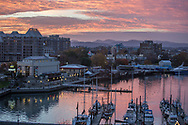 Victoria Harbour at sunset British Columbia