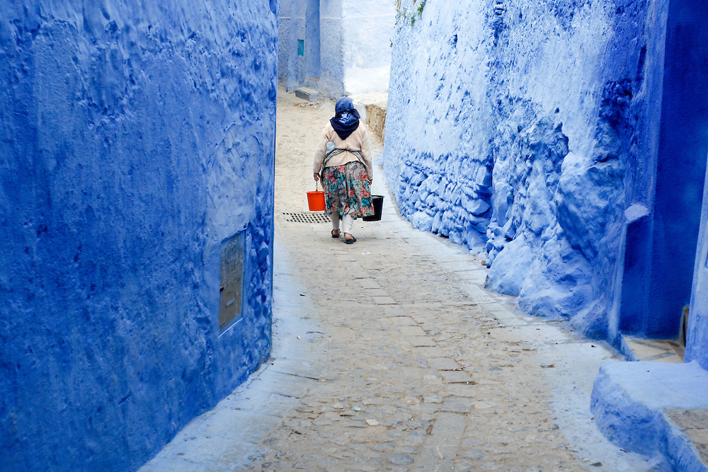 Chefchaouen is situated in the Rif Mountains, just inland from Tangier and Tetouan. The city was founded in 1471, as a small fortress which still exists to this day, by Moorish exiles from Spain led by Moulay Ali Ben Moussa Ben Rached El Alami to fight the Portuguese invasions of northern Morocco. It was known as one of the main concentrations of Moriscos and Jews who sought refuge in this mountainous city after the Spanish Reconquista in medieval times. In 1920, the Spanish seized Chefchaouen to form part of Spanish Morocco. Spanish troops imprisoned Abd el-Krim in the kasbah from 1916 to 1917. After defeating him with the help of the French force Abd el-Krim was deported to Réunion in 1926. Spain returned the city after the independence of Morocco in 1956.