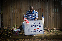 A pro-life activist prays outside the Jackson Women's Health Organization clinic, on Monday August 18, 2014, in Jackson, Mississippi. This is the only clinic in the entire state that performs abortions. (Photo © Jock Fistick)
