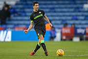Forest Green Rovers Lloyd James(4) passes the ball forward during the EFL Sky Bet League 2 match between Oldham Athletic and Forest Green Rovers at Boundary Park, Oldham, England on 12 January 2019.