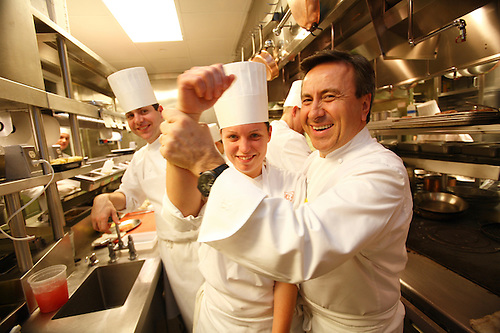 In The Kitchens Of Restaurant Daniel, Of Chef Daniel Boulud, In New York  City.