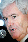 Former Speaker Newt Gingrich vistits a houseparty hosted by lawyer Ovide Lamontagne in Manchester, in his bid for the Presidency in 2012.