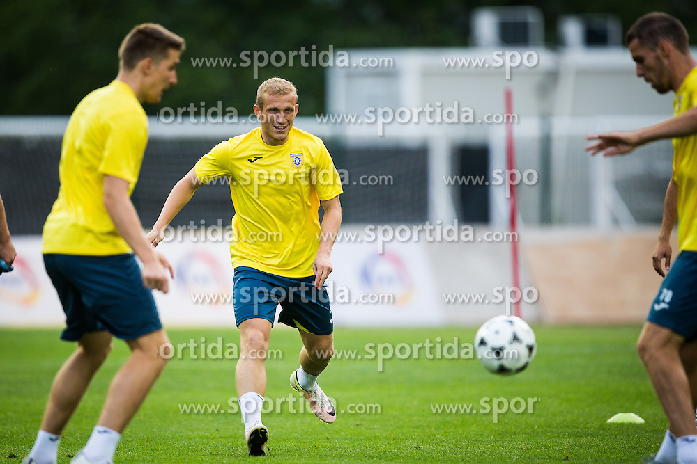 Zeni Husmani of NK Domzale during practice session before football match between NK Domzale and FC Lusitanos Andorra in second leg of UEFA Europa league qualifications on July 6, 2016 in Andorra la Vella, Andorra. Photo by Ziga Zupan / Sportida