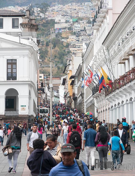 Plaza de la Independencia (Plaza Grande) is the principal public square of Quito, Ecuador.