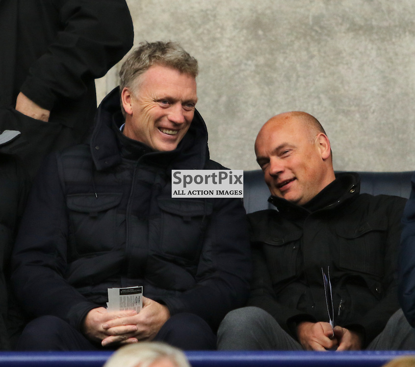David Moyes takes in the  Bolton Wanderers FC v Blackburn Rovers FC Sky Bet Championship 28th December 2015 (c) EDDIE LINTON | SportPix.org.uk