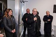Roma 6 Marzo 2017: Inaugurato l'Emporio della Solidarietà di Montesacro, nella parrocchia di San Ponziano, il quarto a Roma promosso dalla Caritas diocesana, un supermercato per famiglie in difficoltà. L'Emporio, una sorta di supermercato di medie dimensioni con casse automatizzate, carrelli, scaffali e insegne, nasce dall'impegno che le comunità parrocchiali svolgono a sostegno delle famiglie in difficoltà, che nella nuova struttura potranno ritirare gratuitamente dei beni di prima necessità. Nella foto:  Roberta Capoccioni Presidente III municipio, Mons. Manlio Asta, parroco di  San Ponziano, Mons. Enrico Feroci, direttore della Caritas di Roma, vescovo Guerino di Tora, ausiliare per il settore Nord.