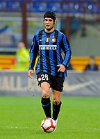 """Cristian Chivu dell'Inter<br /> Milano 24/3/2010 Stadio """"Giuseppe Meazza""""<br /> Inter Livorno<br /> Campionato di calcio di serie A 2009/2010<br /> Foto Bibi Insidefoto"""