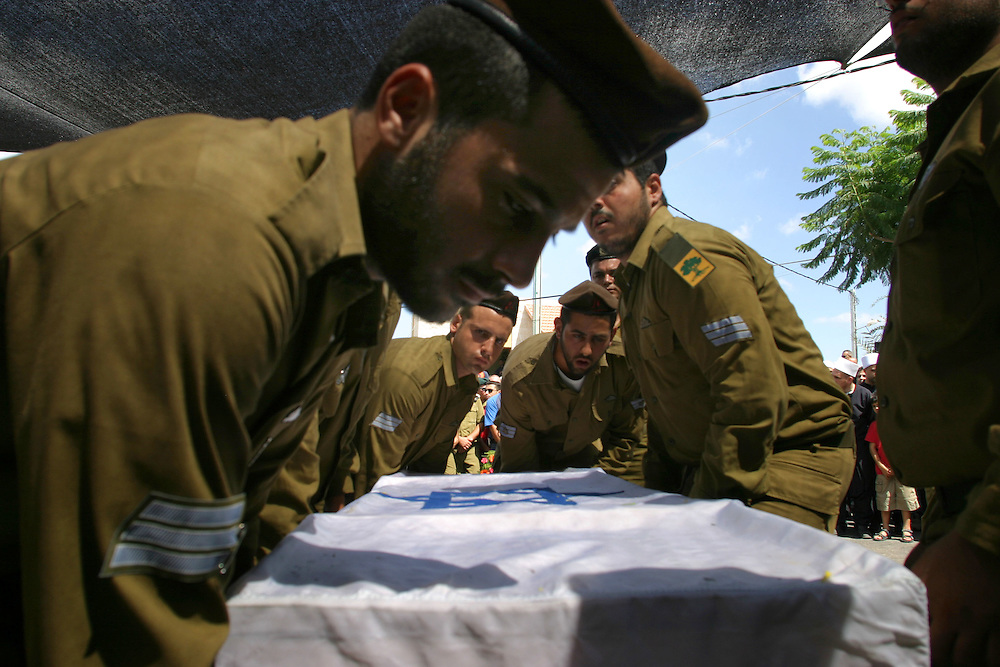 A funeral of a Druze Israeli soldier sergeant Tamer Amar   in his home village Julis in the north of Israel few kilometers from the border Lebanon tamer die during the Israeli operation in Lebanon. 2006- August13........