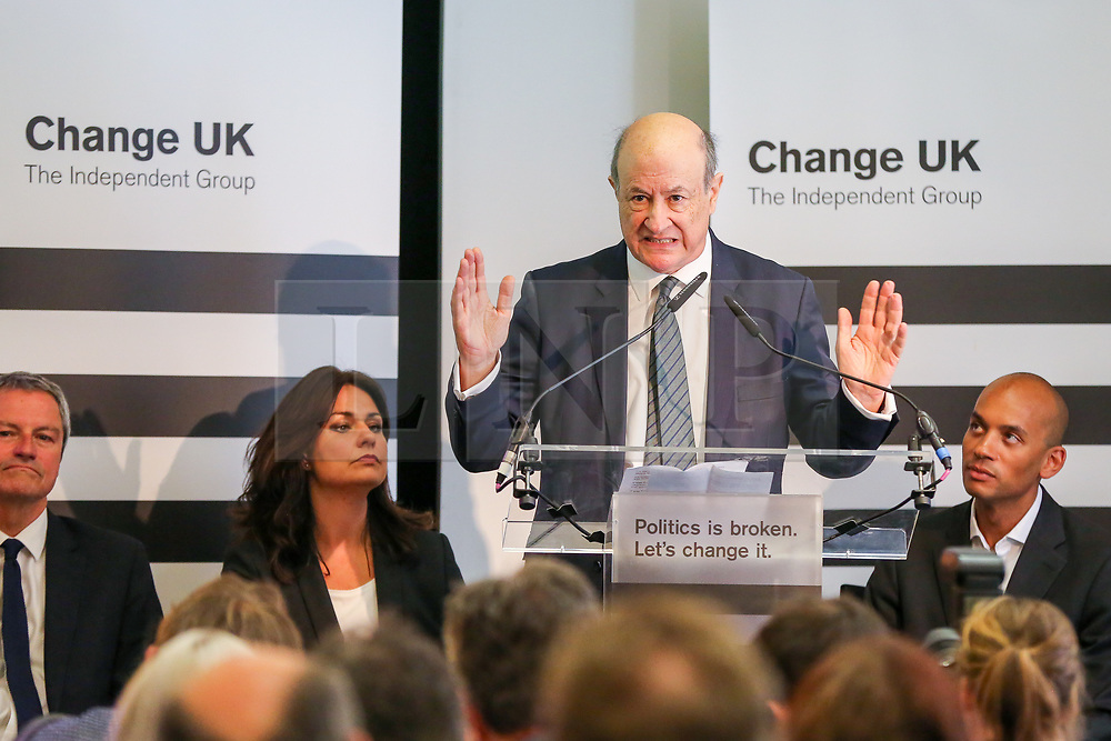 © Licensed to London News Pictures. 30/04/2019. London, UK. Change UK Member of the European Parliament (MEP) candidate Jan Vincent Rostowski speaking at the Change UK's People's Vote Remain rally for the European Elections,  in Westminster. Photo credit: Dinendra Haria/LNP