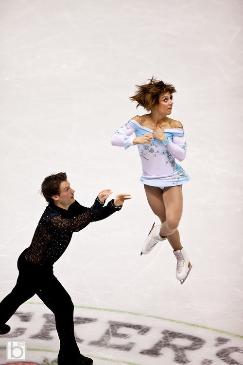 Nov 14, 2009: Meagan Duhamel and Craig Buntin of Canada compete in the Pairs Free Skate competition at Skate America 2009 at the Herb Brooks Arena in Lake Placid, N.Y. (ORDA Photo /Todd Bissonette)