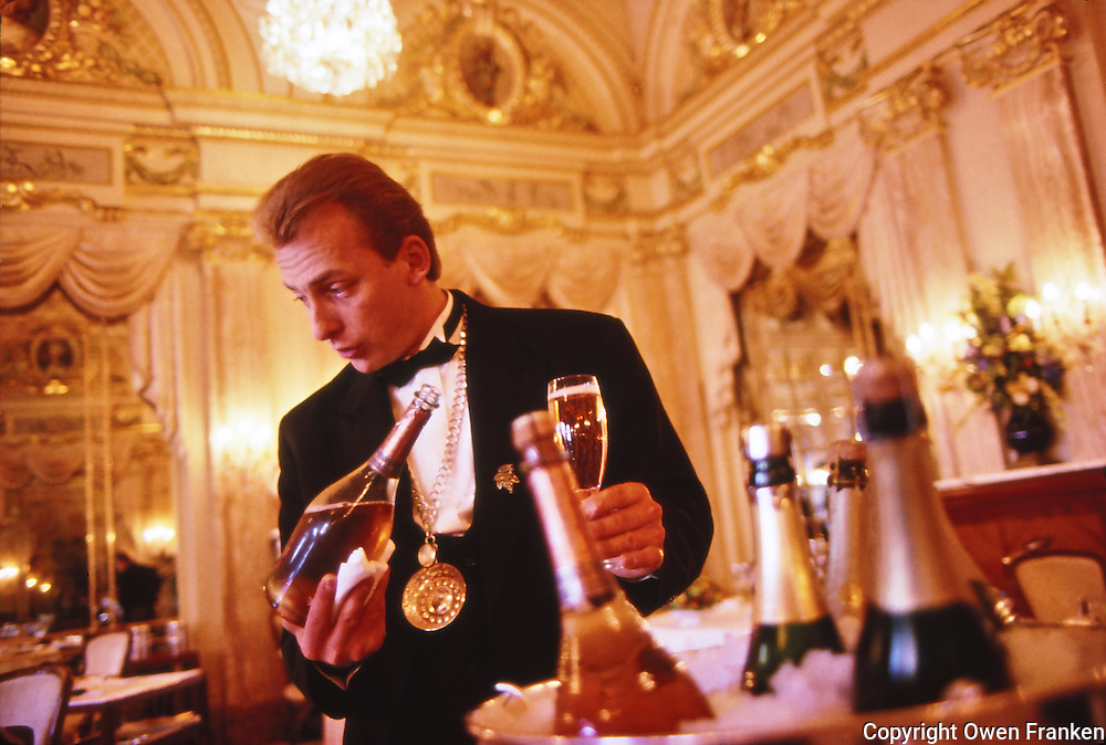 sommelier at Restaurant Louis XV, Monte Carlo, by Alain Ducasse