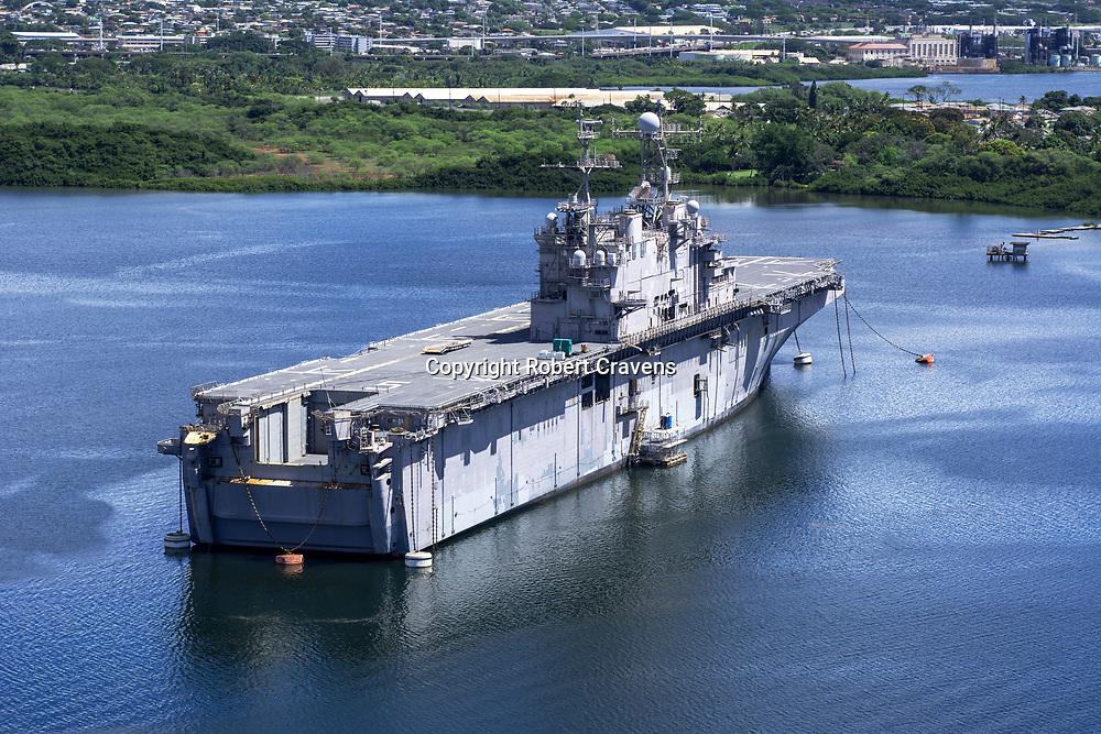 Pearl Harbor Oahu >> Mothballed Naval Ship Pearl Harbor Oahu Hawaii Robert Cravens