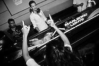 Aeroplane performing at Hu'u Bar, Bali, Indonesia, 05/04/2013.