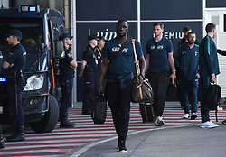 MADRID, SPAIN - Wednesday, May 29, 2019: Tottenham Hotspur's Moussa Sissoko at the Adolfo Suarez Madrid-Barajas Airport ahead of the UEFA Champions League Final between Tottenham Hotspur FC and Liverpool FC. (Pic by Denis Doyle/UEFA)