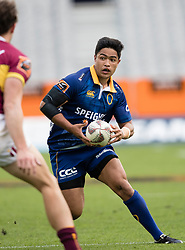 Otago's Josh Ioane, right, looks to beat Southland's Lewis Ormond in the Mitre 10 Cup rugby match, Forsyth Barr Stadium, Dunedin, New Zealand, Sunday, October 14 2017.  Credit:SNPA / Adam Binns ** NO ARCHIVING**